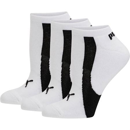 Women's No Show Socks [3 Pack], white-black, small